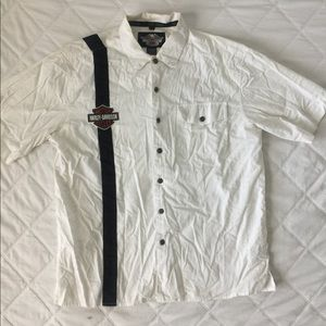 Harley Davidson Embroidered Button Up